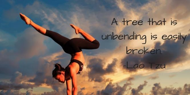 A tree that is unbending is easily broken.-Lao Tzu
