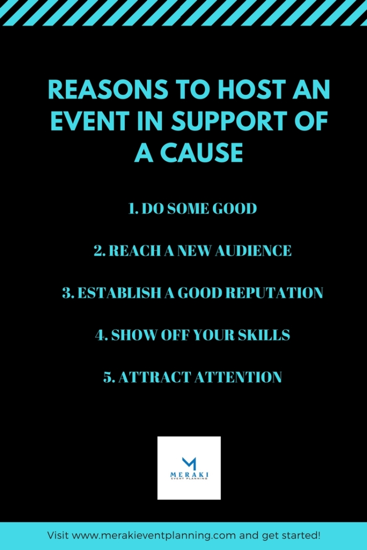 reasons to host an event with a cause