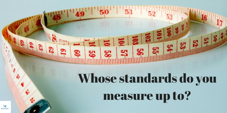 Whose standards do you measure up to_